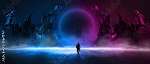 Photo Modern futuristic abstract background