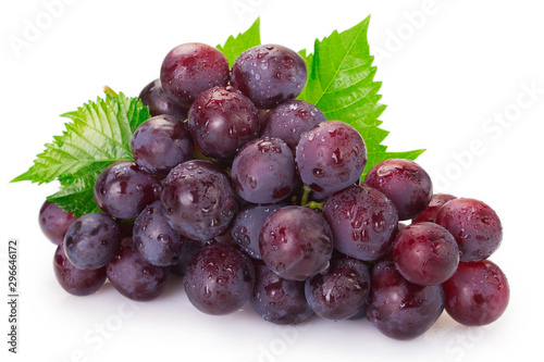 Fotografie, Tablou Fresh grape on white background