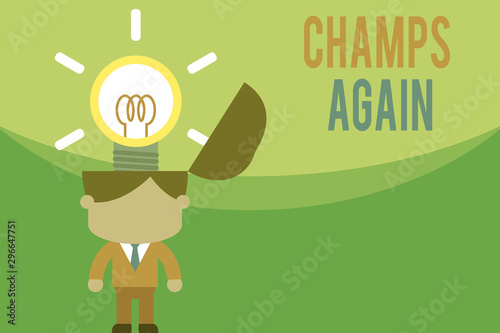 Text sign showing Champs Again Canvas Print