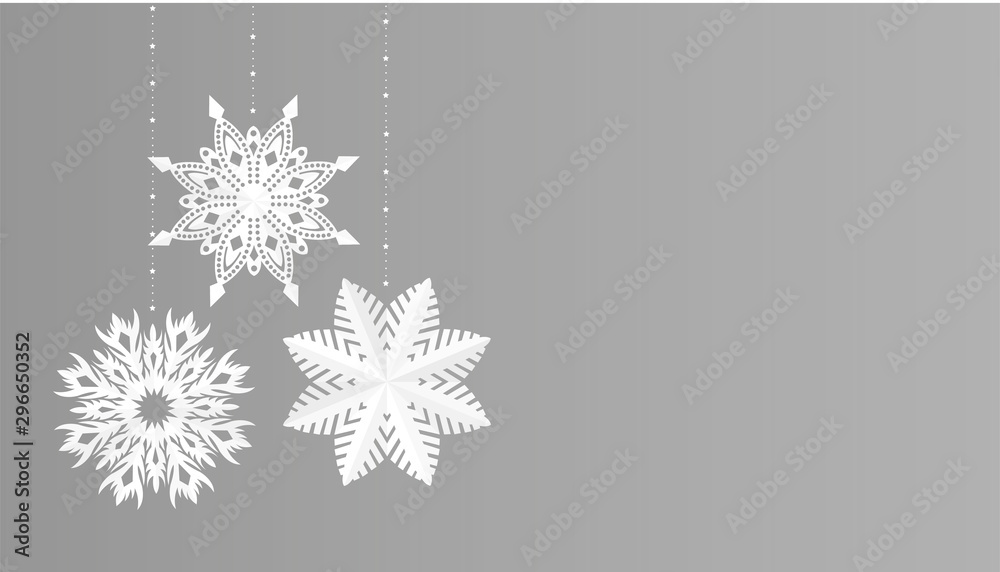 Snowflakes simple christmas decoration