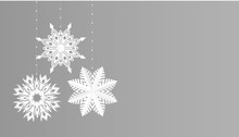 Snowflakes Simple Christmas De...