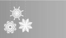 Snowflakes Simple Christmas De...