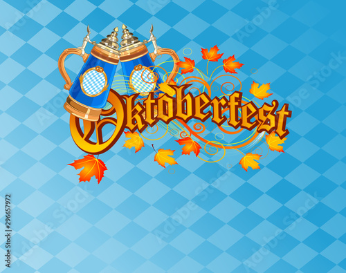 Garden Poster Fairytale World Oktoberfest Celebration Background