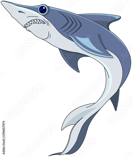 Garden Poster Fairytale World Blue Shark