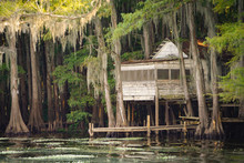Old Abandoned House At Caddo Lake Near Uncertain, Texas
