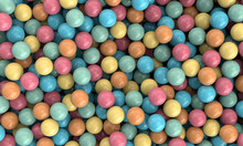 Colorful Chewing Gum Balls Bac...