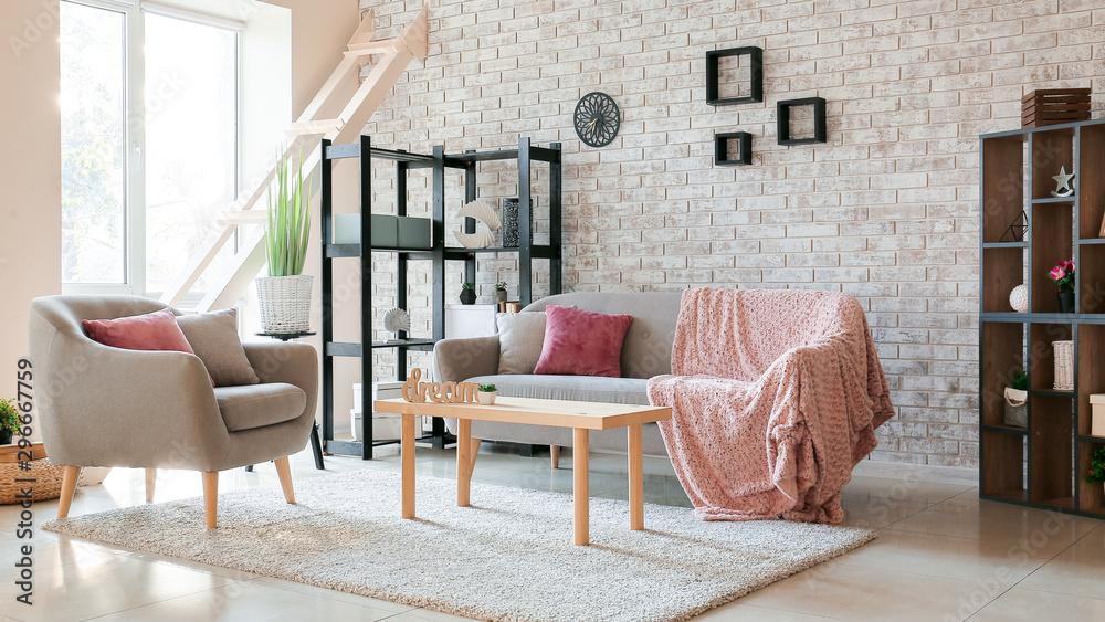 Fotografía Interior of stylish modern living room