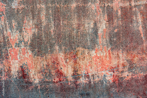 Foto auf AluDibond Graffiti Texture of a concrete wall with cracks and scratches which can be used as a background