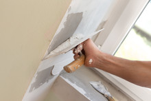 House Painter Skimming Wall