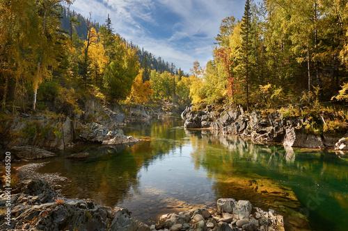 Recess Fitting Waterfalls Altai mountains