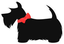 Scottie Dog With Red Bow