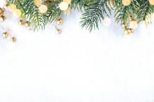 Closeup Of Christmas Tree With...