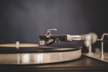 Spinning Record Player With Vi...