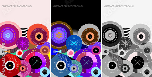 3 Abstract Art Background vector designs