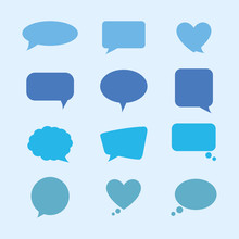 Bundle Of Speech Bubble With I...