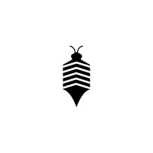 Bee Icon Vector Illustration D...