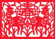 Leinwanddruck Bild - traditional Chinese paper-cut works