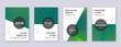 Modern brochure design template set. Green abstrac