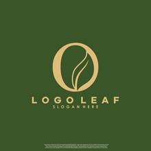 Letter O With Leaf Logo. Green Leaf Logo Icon Vector Design. Landscape Design, Garden, Plant, Nature And Ecology Vector. Editable File.
