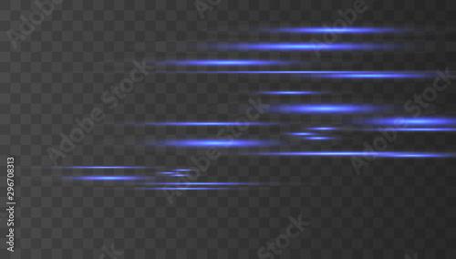 Light and stripes moving fast Billede på lærred