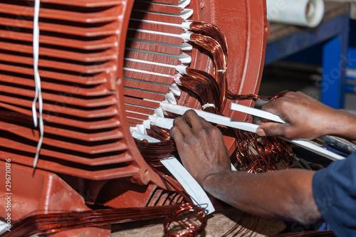 Fotografía  Electric motor repairs