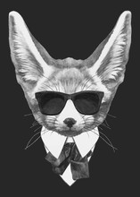Portrait Fennec Fox In Suit. H...