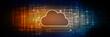 Leinwandbild Motiv 2d rendering technology Cloud computing