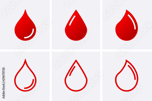 Fotomural  Blood driop Icon