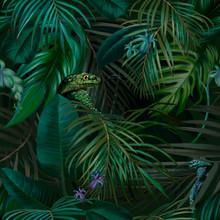 Dark Jungle Tropical Trendy Se...
