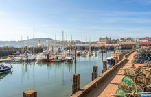 Marina And Harbour At Scarborough In Yorkshire.