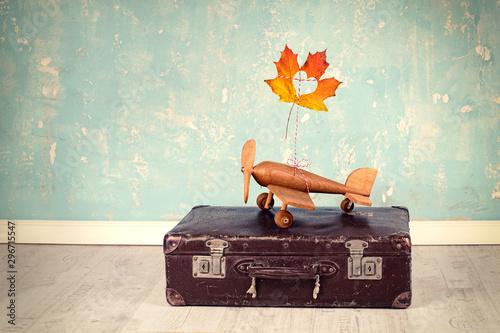 Fotografie, Obraz  Flugreise im Herbst