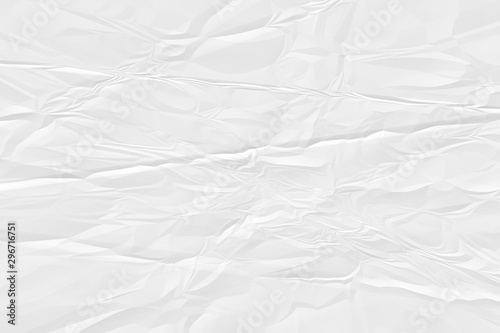 crumpled white paper background close up Tablou Canvas