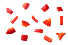Pieces Of Red Sweet Bell Peppe...
