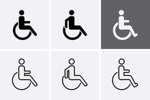 Handicapped Icons Set. Disable...