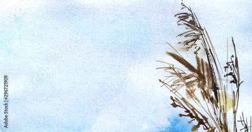 Obraz na plátně Abstract sketchy watercolor background