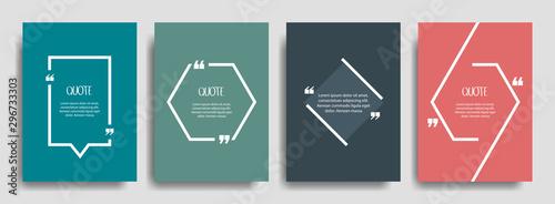 Obraz na płótnie Quote frames blank template set
