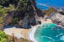 McWay Falls On Julia Pfeiffer Beach, Big Sur, California