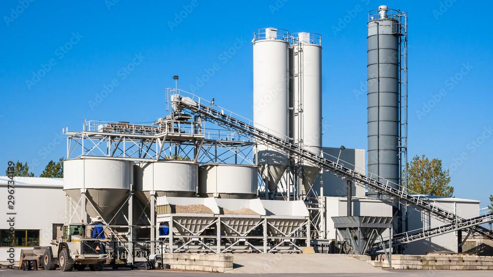 Fototapeta Construction industry concrete plant and equipment