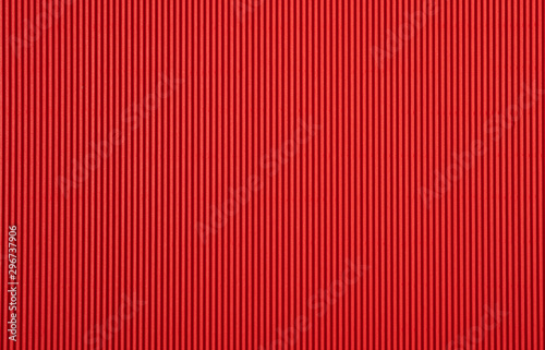 Foto  Red corrugated paperboard texture and background
