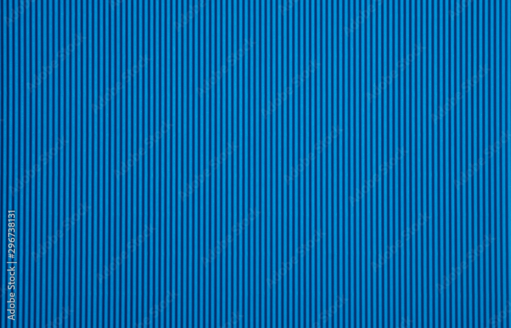 Fototapety, obrazy: Blue color corrugated paperboard texture and background