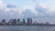 Still Timelapse of Mumbai's Ever-Growing Beautiful Skyline on a beautiful day with clouds taken from Bandra Reclamation. MUM00018.