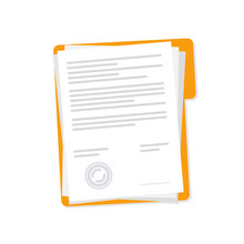 Vector Icon Contract Papers De...