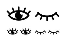 Eye Designs On White Backgroun...