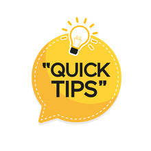 Quick Tips Banner With Light B...