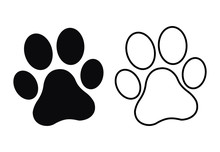 Paw Print. Dog Or Cat Paw