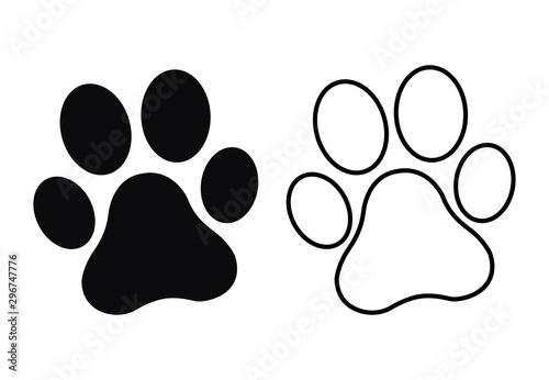 Paw Print. Dog or cat paw Fototapete