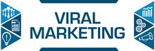 Viral Marketing Blue Triangles Both Sides Business Symbols