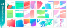 Backgrounds Strokes.Flyer, Cover,cards,pòster. Vector Templates. Trendy Colors.