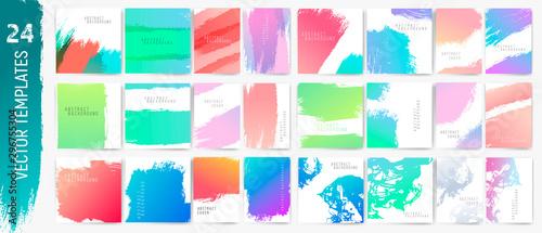 Obraz Backgrounds strokes.Flyer, cover,cards,pòster. Vector templates. Trendy colors. - fototapety do salonu