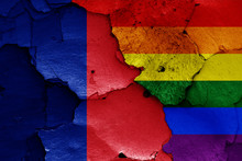 Flags Of Paris And LGBT Painte...